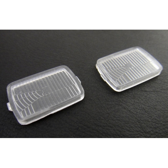 Front Lens Body Accessories For Tamiya CC01 Wrangler YJ