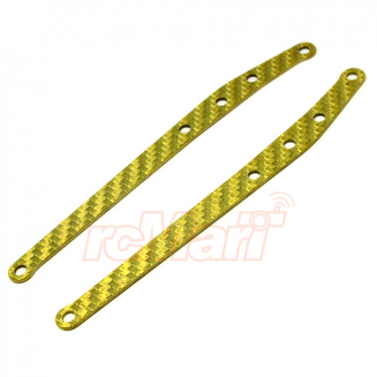 Graphite Rear Links Stiffeners 1 pr Gold For Axial Yeti