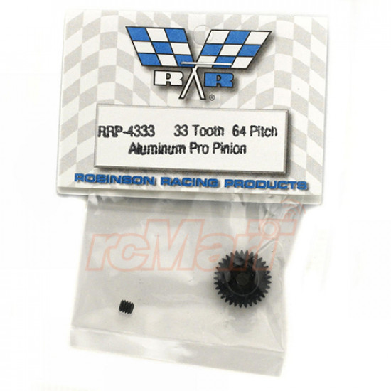 Hard Coated Aluminum 64P Pinion 33 Tooth Gear Black For On Road RC