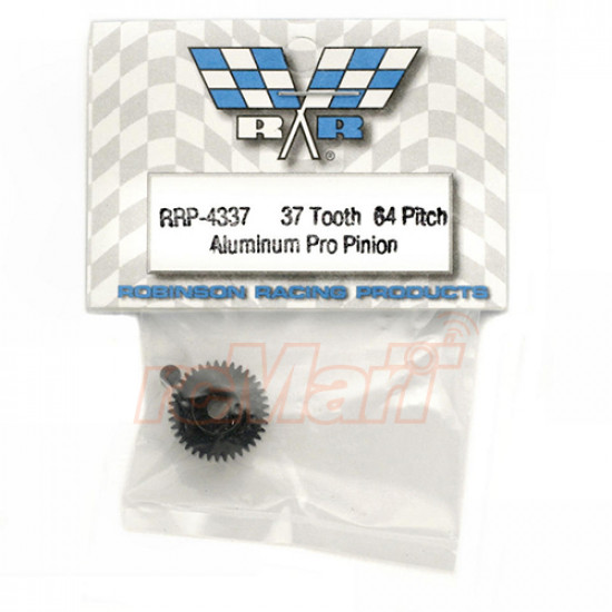 Hard Coated Aluminum 64P Pinion 37 Tooth Gear Black For On Road RC