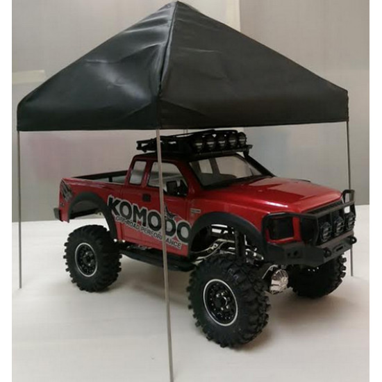 1/10 Scale Fabric Canopy Pit Tent Black For RC Car