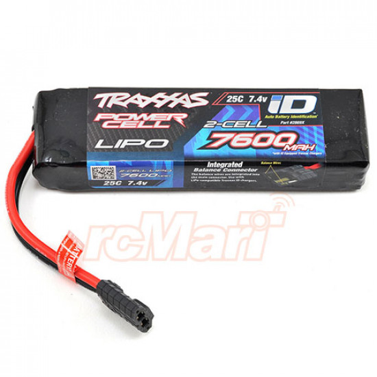 Power Cell 7600mAh 7.4v 2-Cell 25C LiPo Battery w/ iD Connector