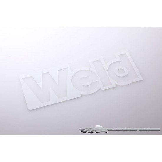 Weld Corner Logo Stickers A Type Plated Silver