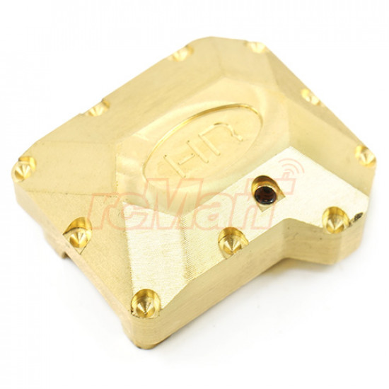 Brass Heavy Metal Axle Differential Cover Set Gold For Traxxas TRX-4