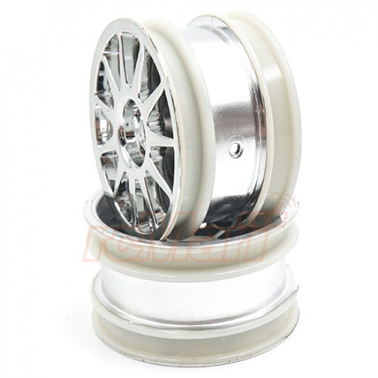 11 Spoke Chrome Plated Rim 2 pcs For M-Chassis T3-01 Dancing Rider