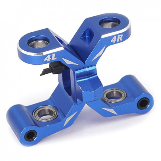 Aluminum Bearing Raced Front C Hubs 2pcs Blue For Traxxas Ford GT 4 Tec 2.0