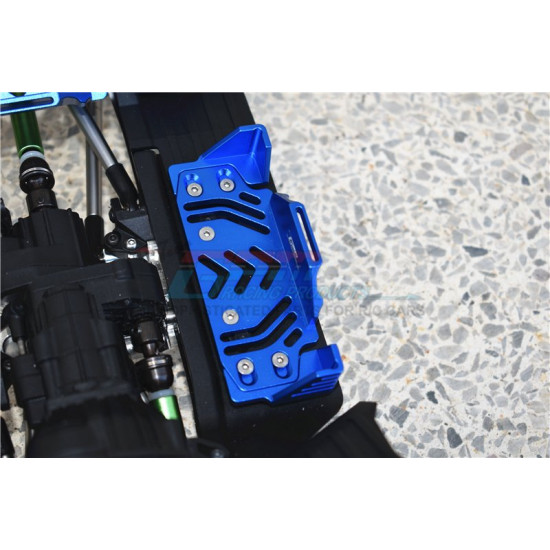 Aluminum Middle Battery Holder Set Black For Axial SCX10 III