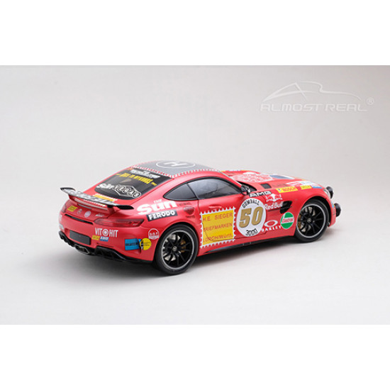 1/18 Diecast Mercedes-AMG GT R 2017 Rote Sau w/ Driving Lamp Scale Model Car Kit