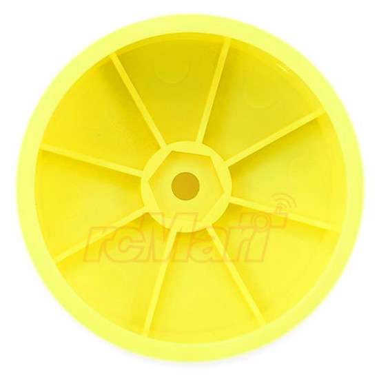 Velocity 2.2inch 12mm Hex Front Rim 2 pcs Yellow For 1/10 4WD Offroad Buggy