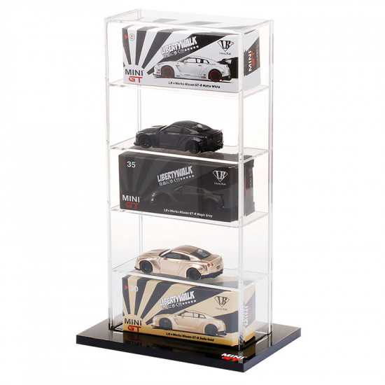 5 Cars Acrylic Display Case Small 15.5x10x 27cm For 1/64 Diecast Resin Scale Model Car