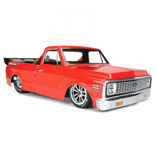 1972 Chevy C-10 1/10 Short Course No Prep Drag Racing Clear Body Set For Short Course Drag Racing