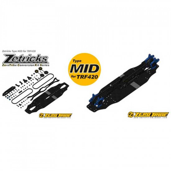 Zetricks Type MID Conversion Kit Limited Edition For Tamiya TRF420