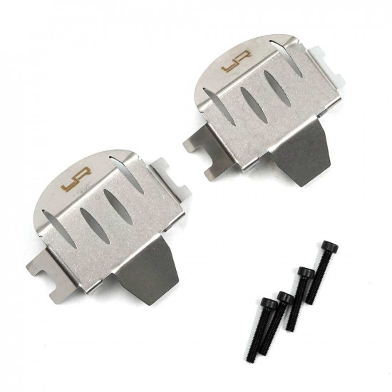 Stainless Steel Front & Rear Differential Protector For Axial RBX10 Ryft